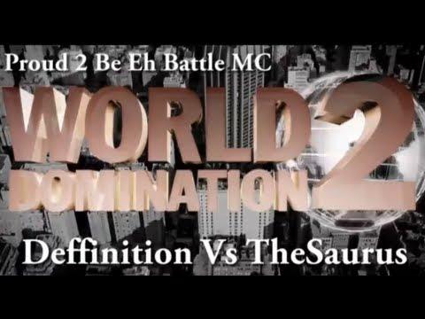 KOTD - Proud2BEhBattleMC WD2 - The Saurus vs Deffinition