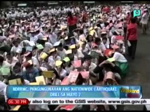 [The Weekend News] NDRRMC, pangungunahan ang nationwide earthquake drill sa hulyo 2 [06|29|14]