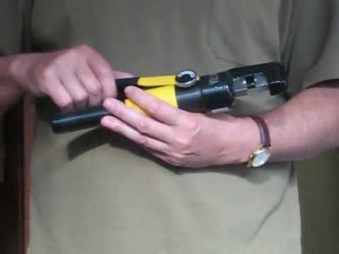 hydraulic crimping tool youtube. Black Bedroom Furniture Sets. Home Design Ideas