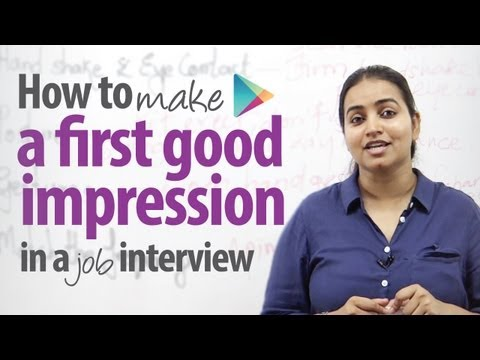 How to make a first good impression in a job interview 1