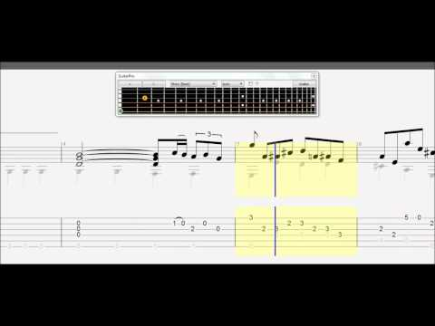 Learn How to Play Air on a G String J P BACH Classical Acoustic Guitar TABS ...