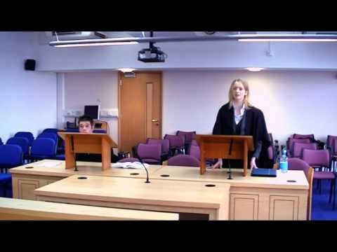 Law students using our mock court room
