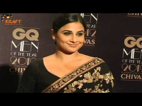 Hot Vidya Balan Looks much hotter in Saree at GQ men awards 2012