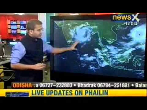 NewsX: Red alert issued as cyclone Phailin nears Odisha, Andhra Pradesh
