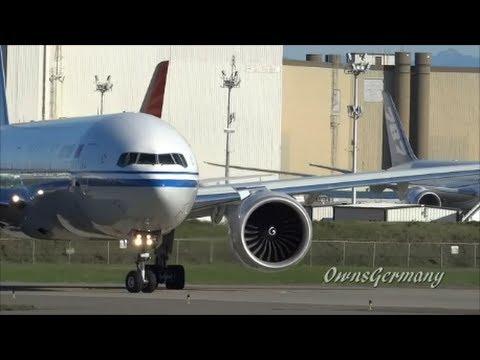 NEW Air China Boeing 777-300ER B-2040 Test Flight Departure @ KPAE