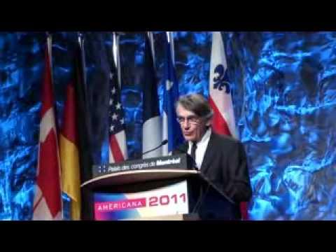 Intervention Consul général de France à Montréal sur Americana 2011