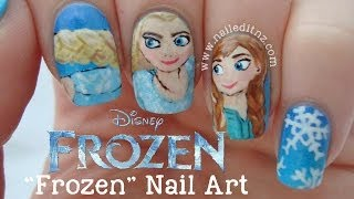 "Disney ""Frozen"" Nails Elsa, Anna & Olaf ♥"