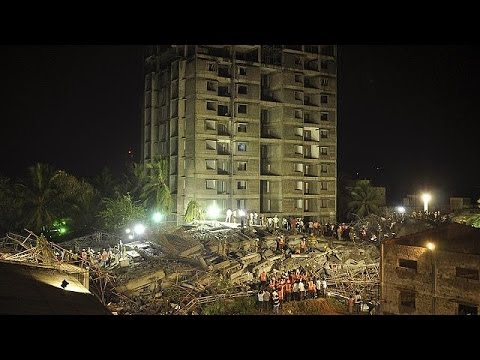 Over 100 trapped after building collapses in Chennai, India