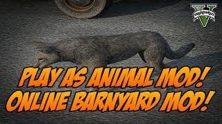 GTA 5: PLAY AS BARNYARD ANIMALS MOD (Pig, Boar, & Coyote