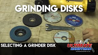 Choosing a disk for a grinder