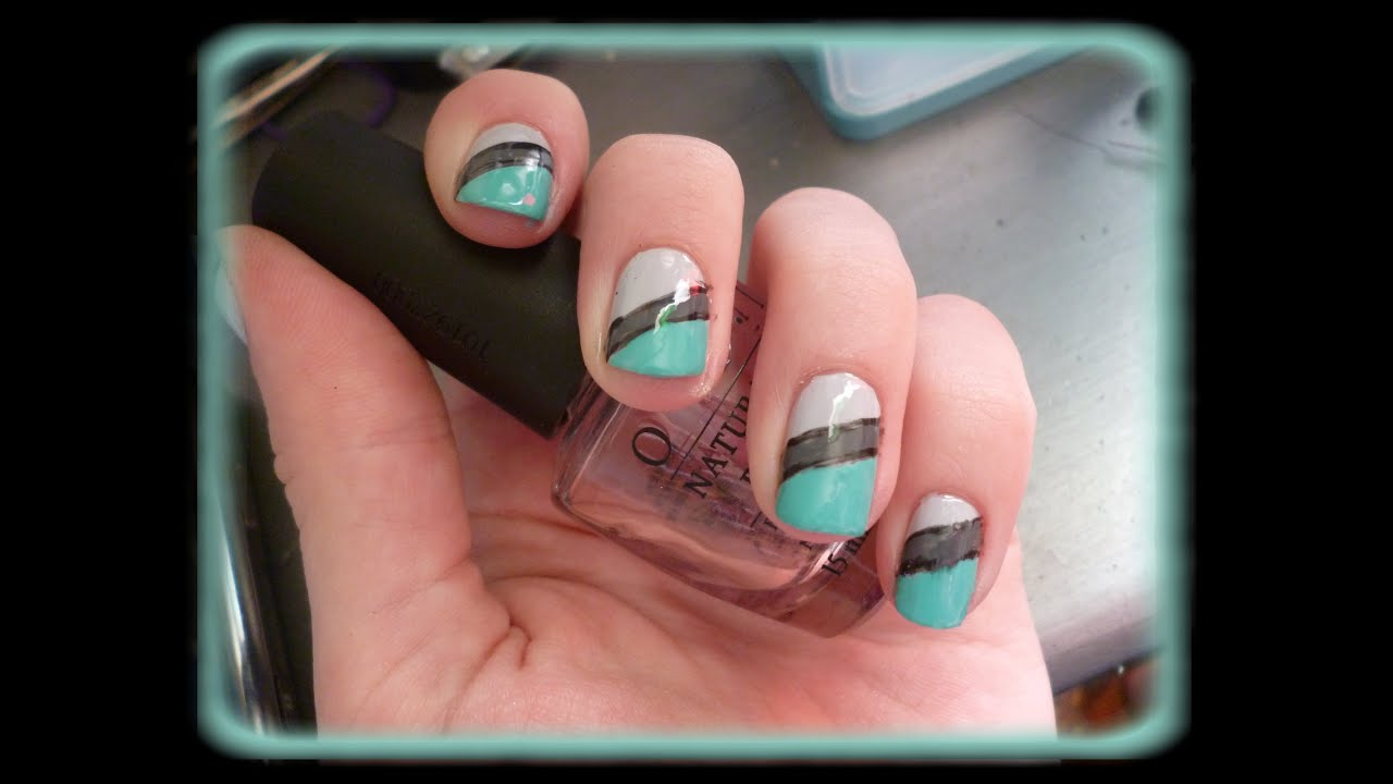 Nail art simple sur ongles courts pr sentation youtube - Vernis ongle court ...