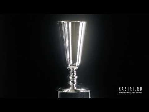 Набор серебряных рюмок №4 из 6 предметов - Видео 1