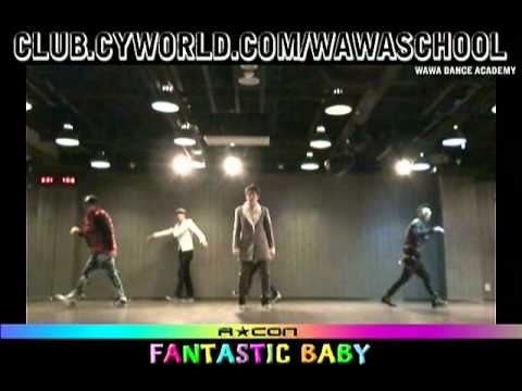 WAWA DANCE ACADEMY ACON SPECIAL BIGBANG FANTASTIC BABY DANCE STEP MIRRORED MODE