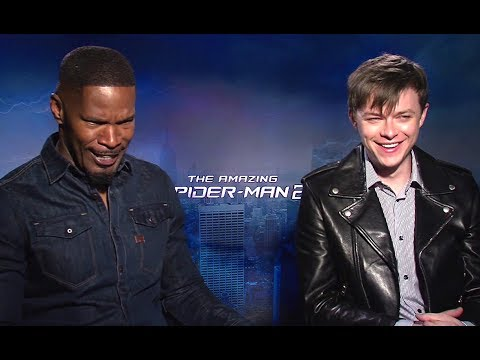 Jamie Foxx & Dane Dehaan Interview - The Amazing Spider-Man 2 (2014) JoBlo.com HD