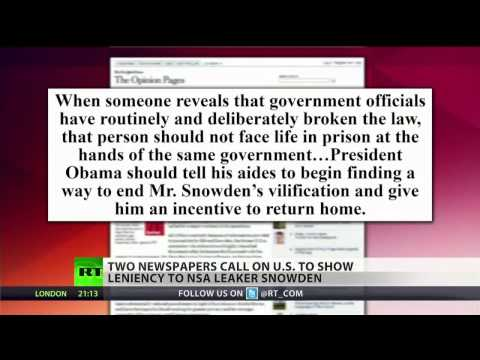 Newspapers call for US leniency towards Snowden