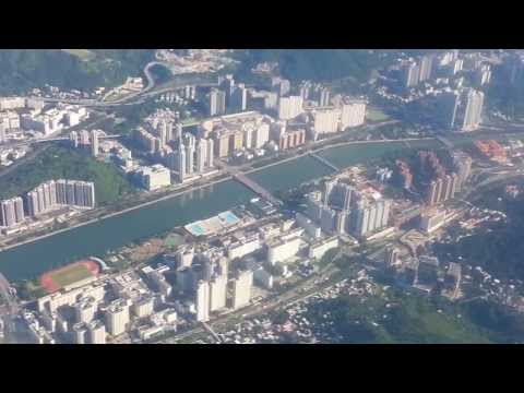 Sydney- Hong Kong - Qantas Airways Flight  127  July 2013 Landing