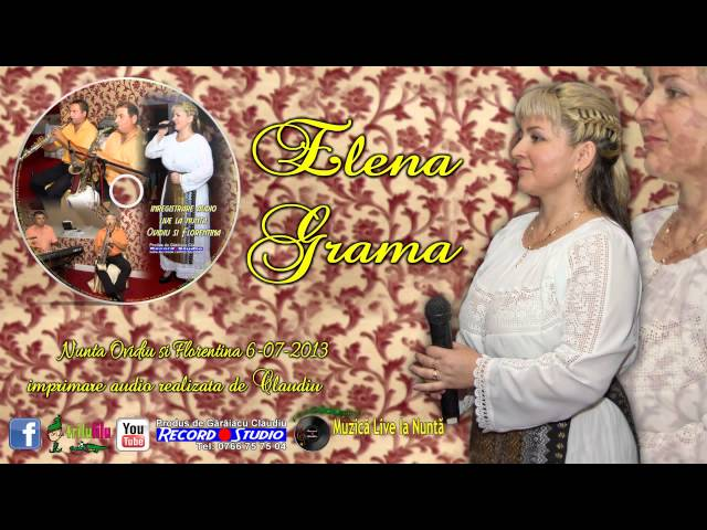 Elena Grama - Mai ti minte mai draga Marie LIVE AUDIO Claudiu Record Studio