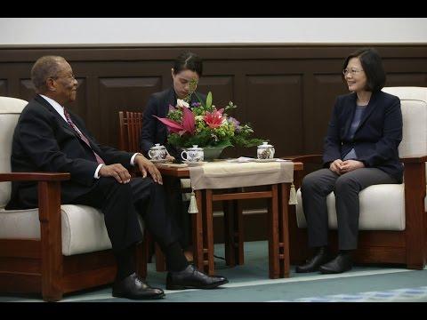 President Tsai meets Swaziland Prime Minister Barnabas Sibusiso Dlamini