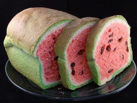 Watermelon Look-Alike Raisin Bread
