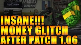 GTA 5 ONLINE: UNLIMITED MONEY GLITCH AFTER PATCH 1.06 - INSANE MONEY METHOD - GTA V GLITCHES
