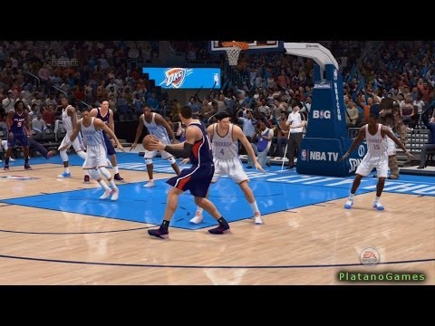 NBA Live 14 PS4 - Atlanta Hawks vs Oklahoma City Thunder - 2nd Qrt -  HD