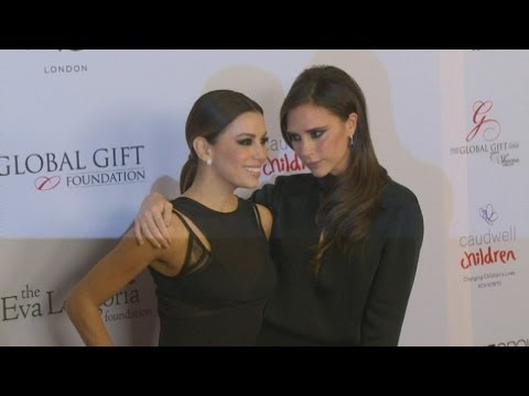 Victoria Beckham supports BFF Eva Longoria at Global Gift Gala