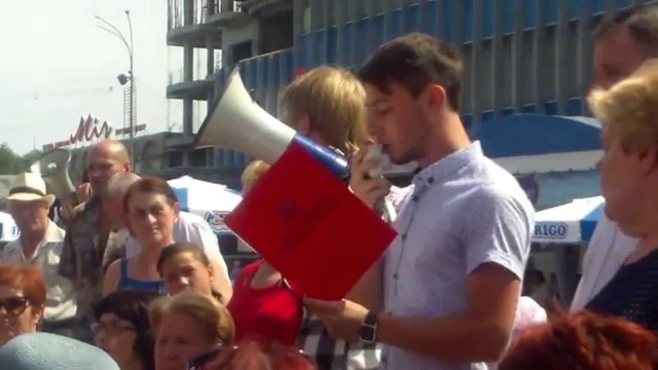 Protest socialist la Bălți contra măririi tarifelor (ru)