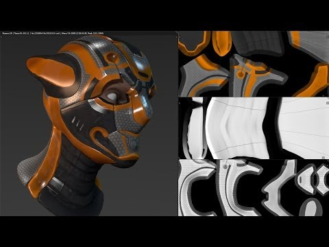 Blender 3d: UV Unwrapping / Texture Painting with Masterxeon1001