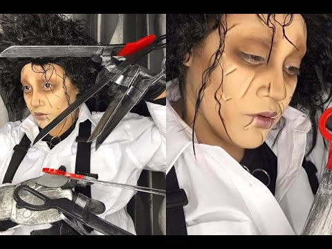 Edward Scissorhands Makeup Tutorial | Halloween makeup by Chaya Mua