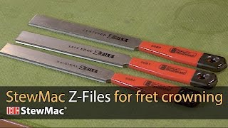 Watch the Trade Secrets Video, StewMac Z-File Fret Crowning Files Video