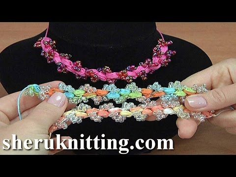 Crochet Puff Stitch Cord With Beads Tutorial 157