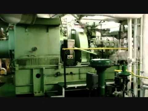 Steam turbine ship engine room tour part 2