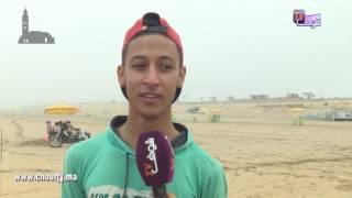 من شاطئ عين الذياب..قهرنا الصهد فسطات و جينا نتبحرو فكازا..شباب يُحاربون الحرارة في رمضان | خارج البلاطو
