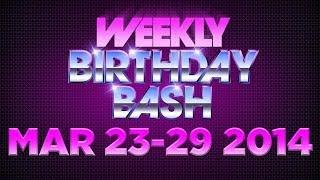 Celebrity Actor Birthdays - March 23-29, 2014 HD