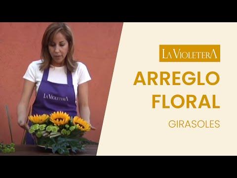 Como hacer un centro de mesa floral LA VIOLETERA Florería
