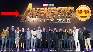 Avengers Infinity War Cast get together at D-23 Expo - Tom Holland & Robert Downey Jr. - 2017