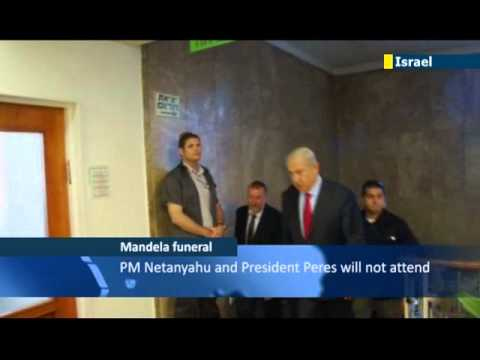 Netanyahu & Peres pull out of Mandela funeral