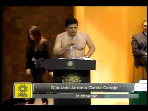 image vidéo المكسيك : نائب يخطب في البرلمان عاريا