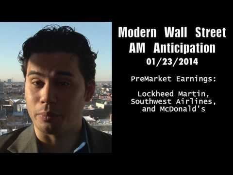 Modern Wall Street AM Anticipation: January 23, 2014