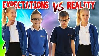 School Morning Routine EXPECTATIONS vs REALITY