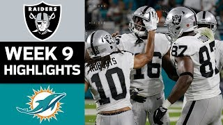 Raiders vs. Dolphins | NFL Week 9 Game Highlights