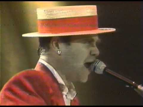 Thumbnail of video Elton John - Saturday Night's (Alright for Fighting) - Wembley 1984 (HQ Audio)