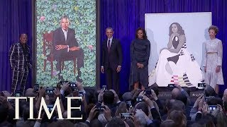 See Barack And Michelle Obama's Official Portraits Revealed At The National Portrait Gallery   TIME