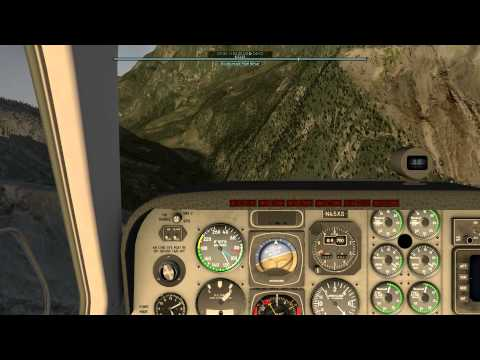 X-Plane 10 Lukla Baron Twin Engine Crash
