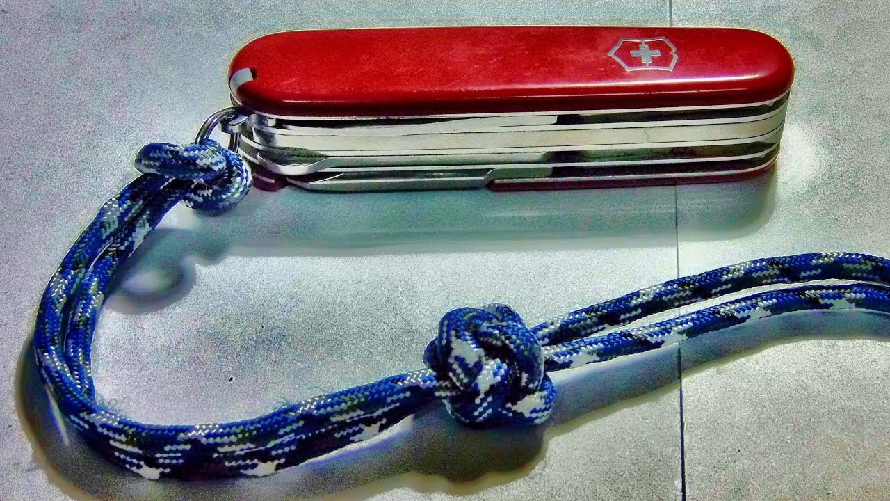 How to tie make a paracord lanyard knot youtube for Easy paracord lanyard