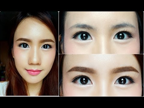 Korean Style Eyebrows Tutorial By May R Youtube