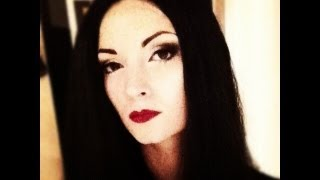 Halloween Morticia Adams Makeup Tutorial By CHERRY