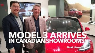 Model 3 arrives in Canadian Showrooms!