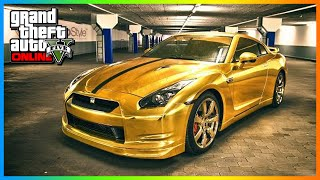GTA 5: MODDED CARS Golden Chrome RARE PAINT JOB! GTA 5
