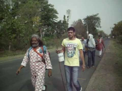 acharya niraj foot march to save ganga